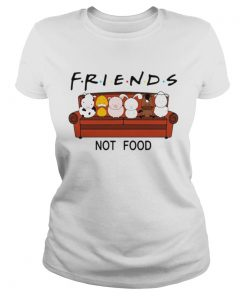 Ladies Tee Dairy cows duck pig rabbit horse sheep Friends not food