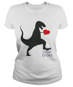Ladies Tee Dinosaurs love bites shirt
