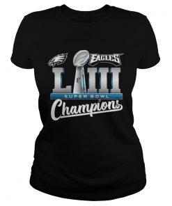 Ladies Tee Eagles LII champions shirt