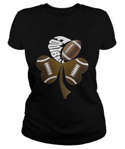 Ladies Tee Football Shamrock Heart Shirt