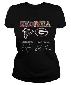 Ladies Tee Georgia Julio Jones Jake Fromm Signature Shirt