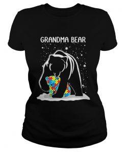 Ladies Tee Grandma Bear Autism shirt