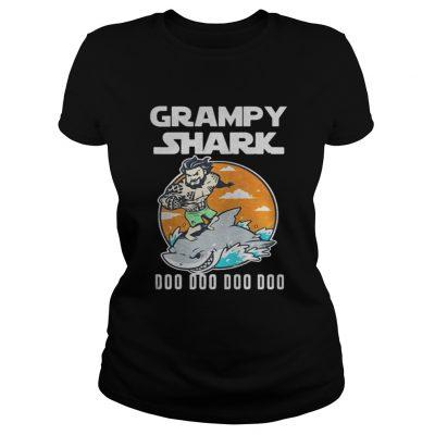 Ladies Tee Grumpy Shark Doo Doo Doo Doo shirt