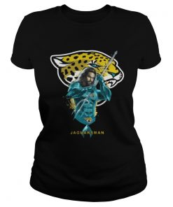 Ladies Tee Jaguarsman Aquaman And Jaguars Football Team TShirt
