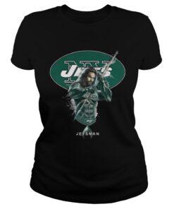 Ladies Tee Jetsman Aquaman And Jets Football Team TShirt