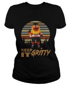 Ladies Tee Keep It Gritty Flyers Mascot Vintage Shirt