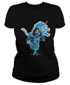 Ladies Tee Lionsman Aquaman And Lions Football Team TShirt