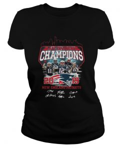 Ladies Tee New England Patriots 2019 Afc Division Champions With Signature Shirt