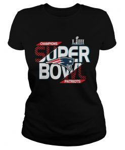 Ladies Tee New England Patriots champions super bowl Liii 2019 Shirt