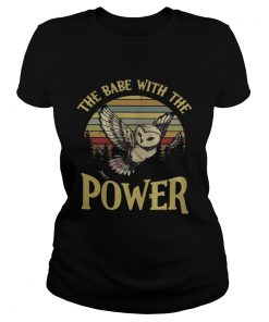 Ladies Tee Owl The babe with the power vintage shirt