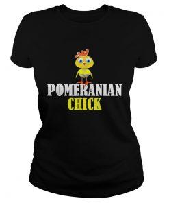 Ladies Tee POMERANIAN CHICK SHIRT