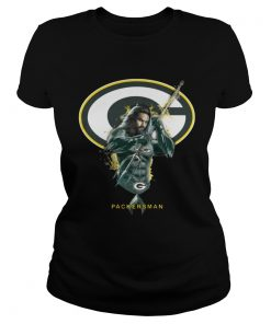 Ladies Tee Packersman Aquaman And Packers Football Team TShirt