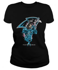 Ladies Tee Panthersman Aquaman And Panthers Football Team TShirt