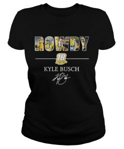 Ladies Tee Rowdy 18 Kyle Busch shirt