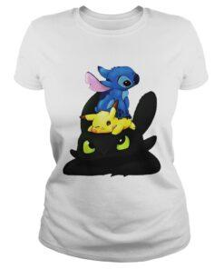Ladies Tee Stitch Pokemon Grinch shirt