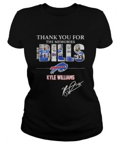 Ladies Tee Thank you for the memories Bills Kyle Williams 95 shirt