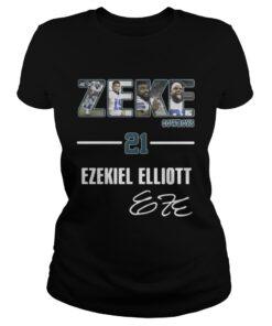 Ladies Tee Zeke Dallas Cowboys 21 Ezekiel Elliott shirt