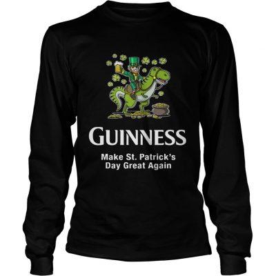 Longsleeve Tee Guinness make St. Patrick's Day great again shirt