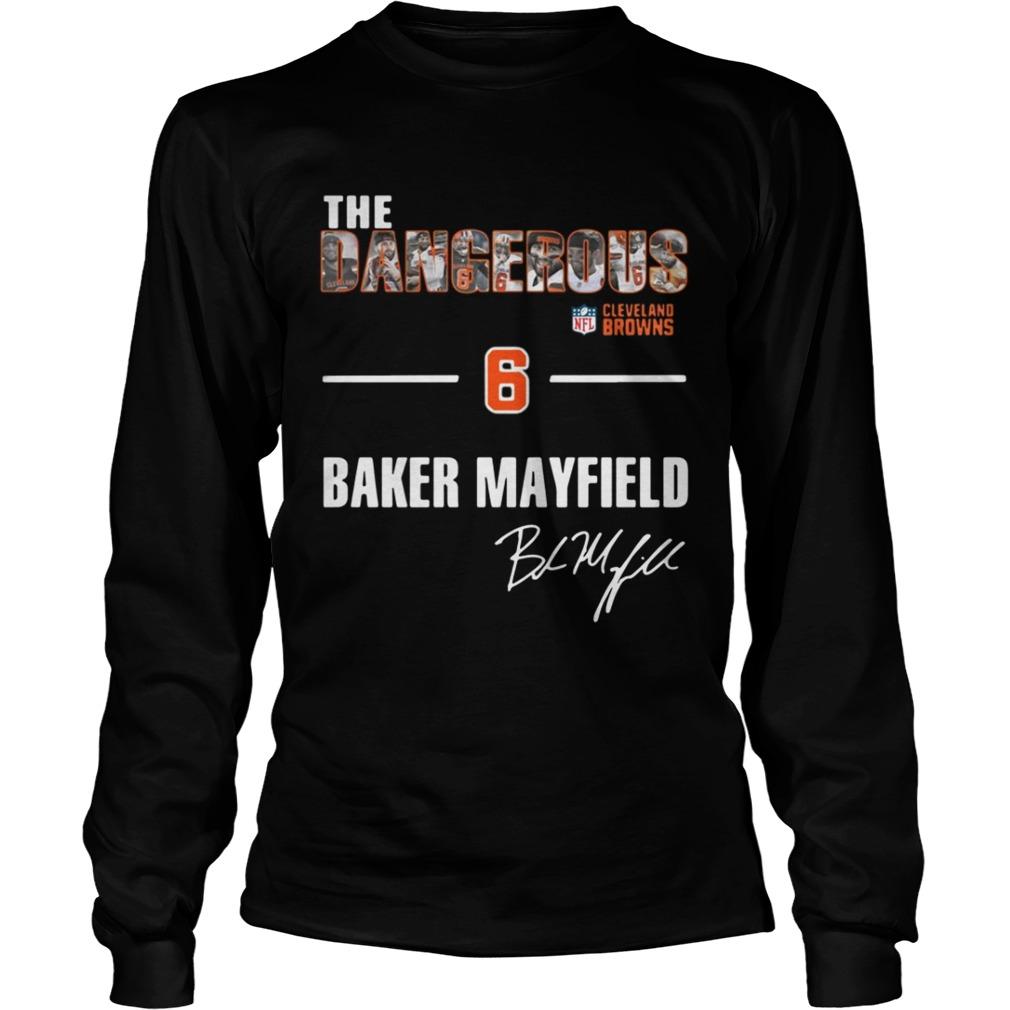 official photos 008d2 399c6 The Dangerous Cleveland Browns 6 Baker Mayfield shirt