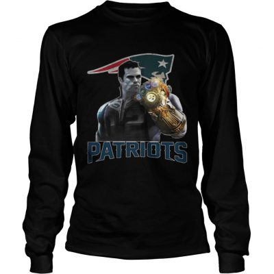 Longsleeve Tee TomBrady Thanos infinity gauntlet Patriots Shirt