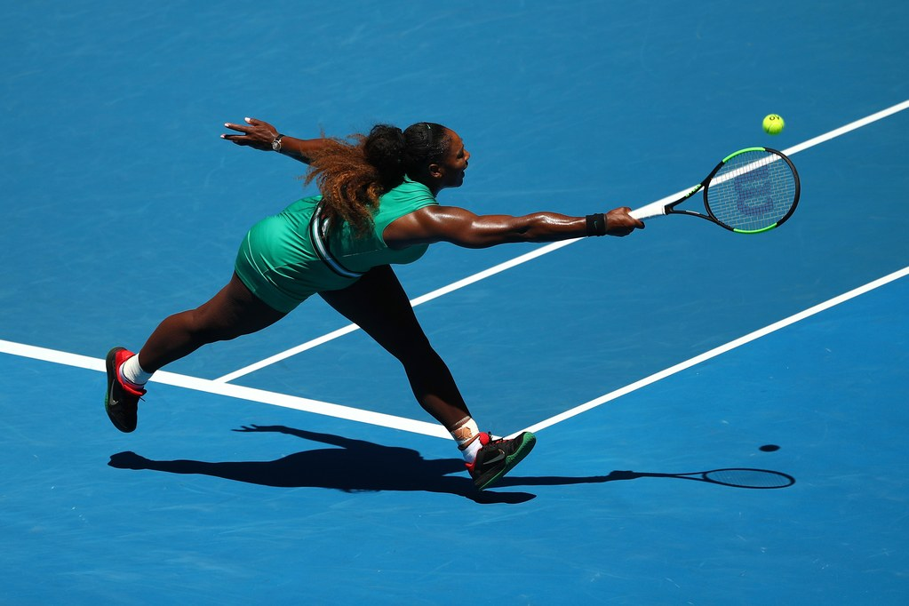 Playing against Karolina Pliskova, Serena Williams lost nine crucial points in a row.