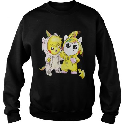 Sweatshirt Baby Pikachu and unicorn shirt