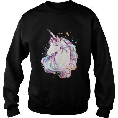 Sweatshirt Colorful Unicorn Rave Lover Funny Rainbow TShirt