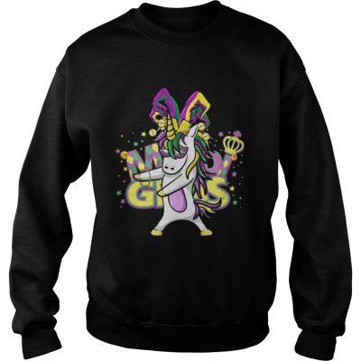 Sweatshirt Flossing Unicorn Mardi Gras New Orleans Party TShirt