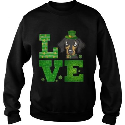 Sweatshirt Love Dachshund St Patricks Day Green Shamrock TShirt
