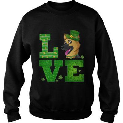 Sweatshirt Love German Shepherd St Patricks Day Green Shamrock TShirt