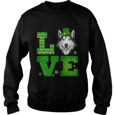 Sweatshirt Love Husky St Patricks Day Green Shamrock TShirt