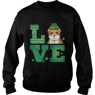 Sweatshirt Love Pit Bull St Patricks Day Green Shamrock TShirt