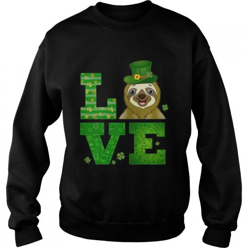 Sweatshirt Love Sloth St Patricks Day Green Shamrock TShirt