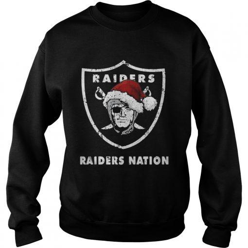 Sweatshirt Santa Oakland Raiders Nation Christmas ugly sweater
