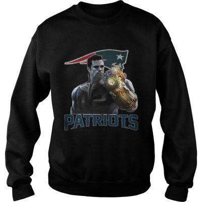 Sweatshirt TomBrady Thanos infinity gauntlet Patriots Shirt