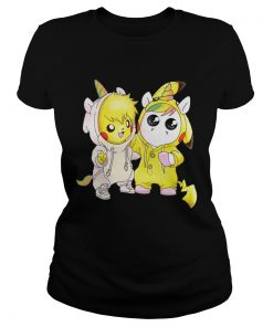 ladies Tee Baby Pikachu and unicorn shirt