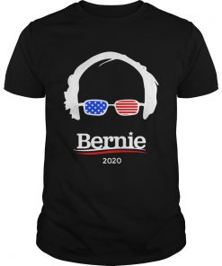 Guys Bernie Sanders 2020 Hair and Glasses Campaign shirt