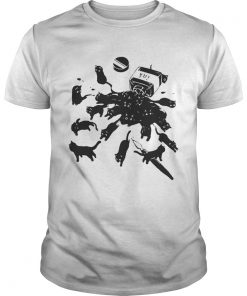 Guys Cats in ink bottle shirt