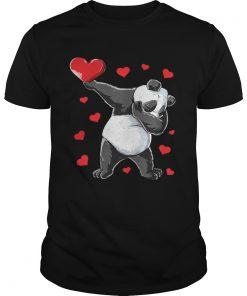 Guys Dabbing Panda Heart Valentines Day Bear Shirt