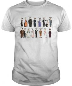 Guys Downton Abbey characters shirt