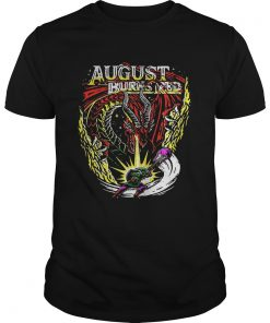 Guys Dragon August burns red shirt