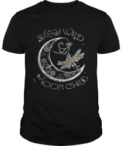 Guys Dragonfly Stay Wild Moon Child shirt