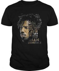 Guys Erik Killmonger bury me in the ocean with my ancestors shirt