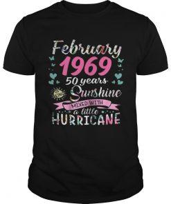 Guys February 1969 50 years sunshine mixed with a little hurricane shirt