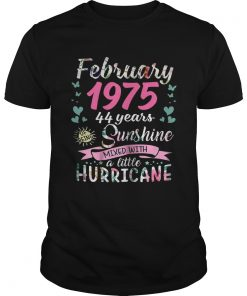 Guys February 1975 44 years sunshine mixed with a little hurricane shirt