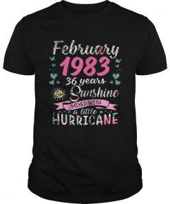 Guys February 1983 36 years sunshine mixed with a little hurricane shirt