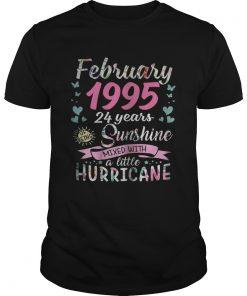 Guys February 1995 24 years sunshine mixed with a little hurricane shirt