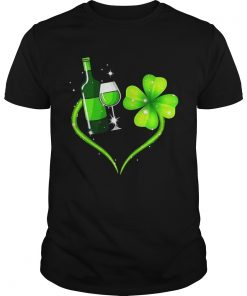 Guys Goblet four leaf clover shirt