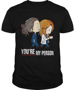 Guys Greys Anatomy doctor bestie youre my person shirt