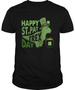 Guys Happy Stpat T Rex day shirt